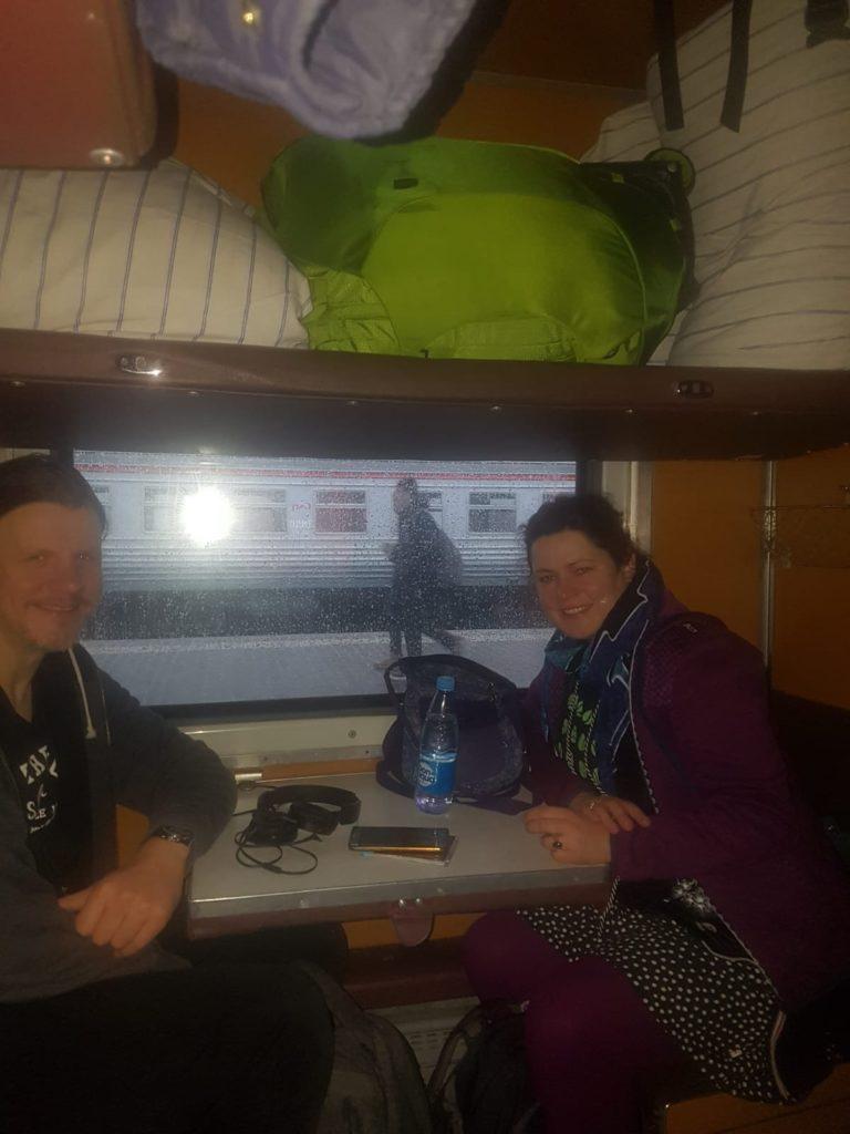 Zugfahrt nach Moskau
