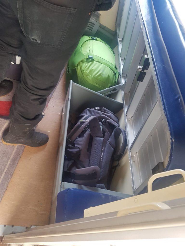 Gepäck in der transsibirschen Eissenbahn