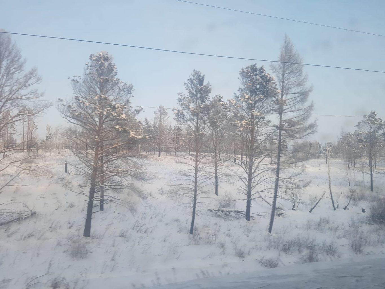 Landschaften Transsibirische Eisenbahn