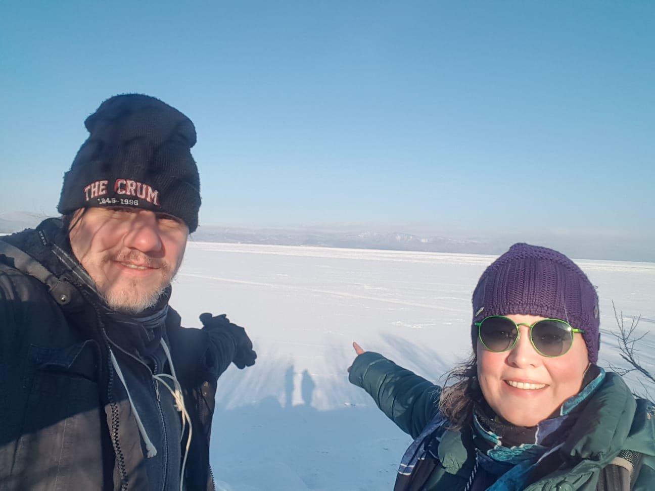 Eishaare am Baikalsee