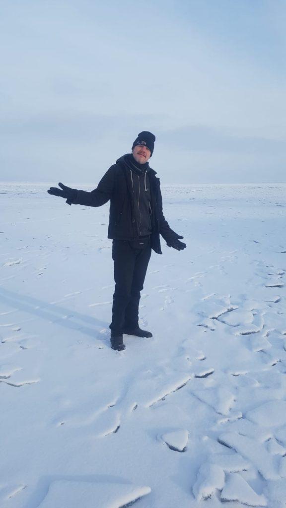 Olli und Stephi auf dem Baikalsee