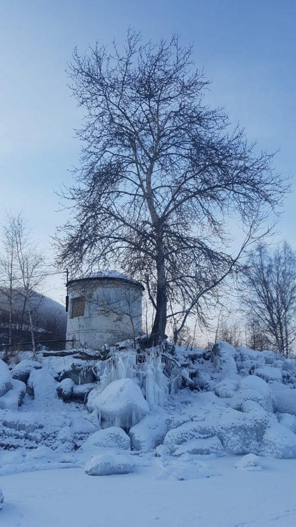 Eis auf dem Baikalsee