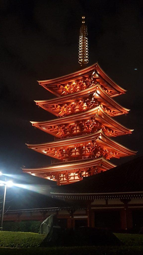 fünfstufige Pagode am Asakusa-Schrein