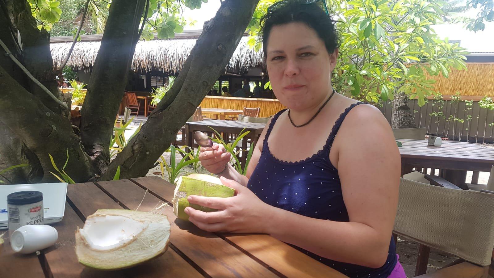 Kokosmilch auf Fidschi