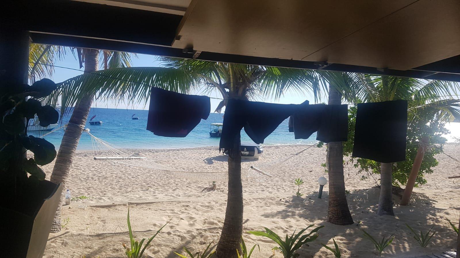 Morgens auf Beach Comber