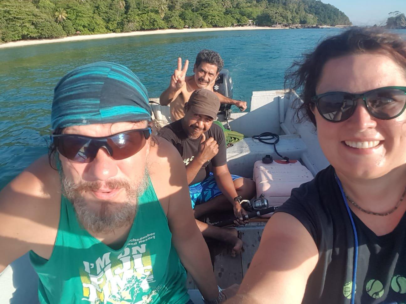 Bootsfahrt zum Fischen