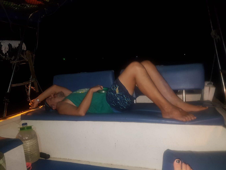 Olli auf dem Boot