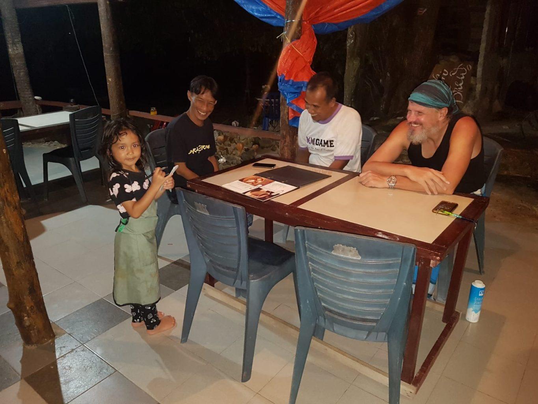 Carom auf Pulau Kapas