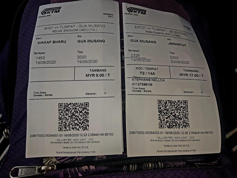 Zugtickets nach Taman Negara