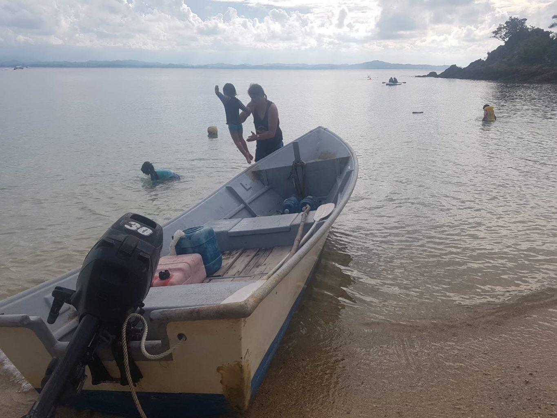 Schwimmübungen auf Pulau Kapas