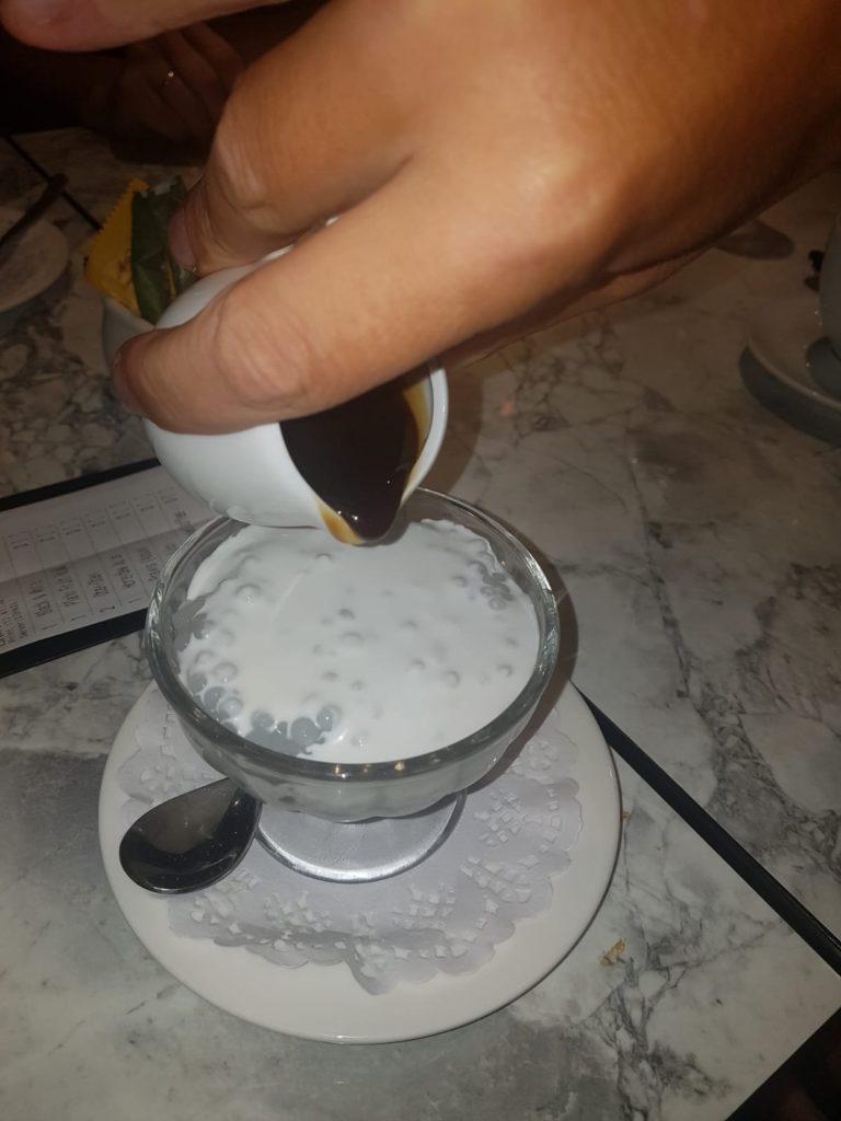 Sago mit süßer Milch